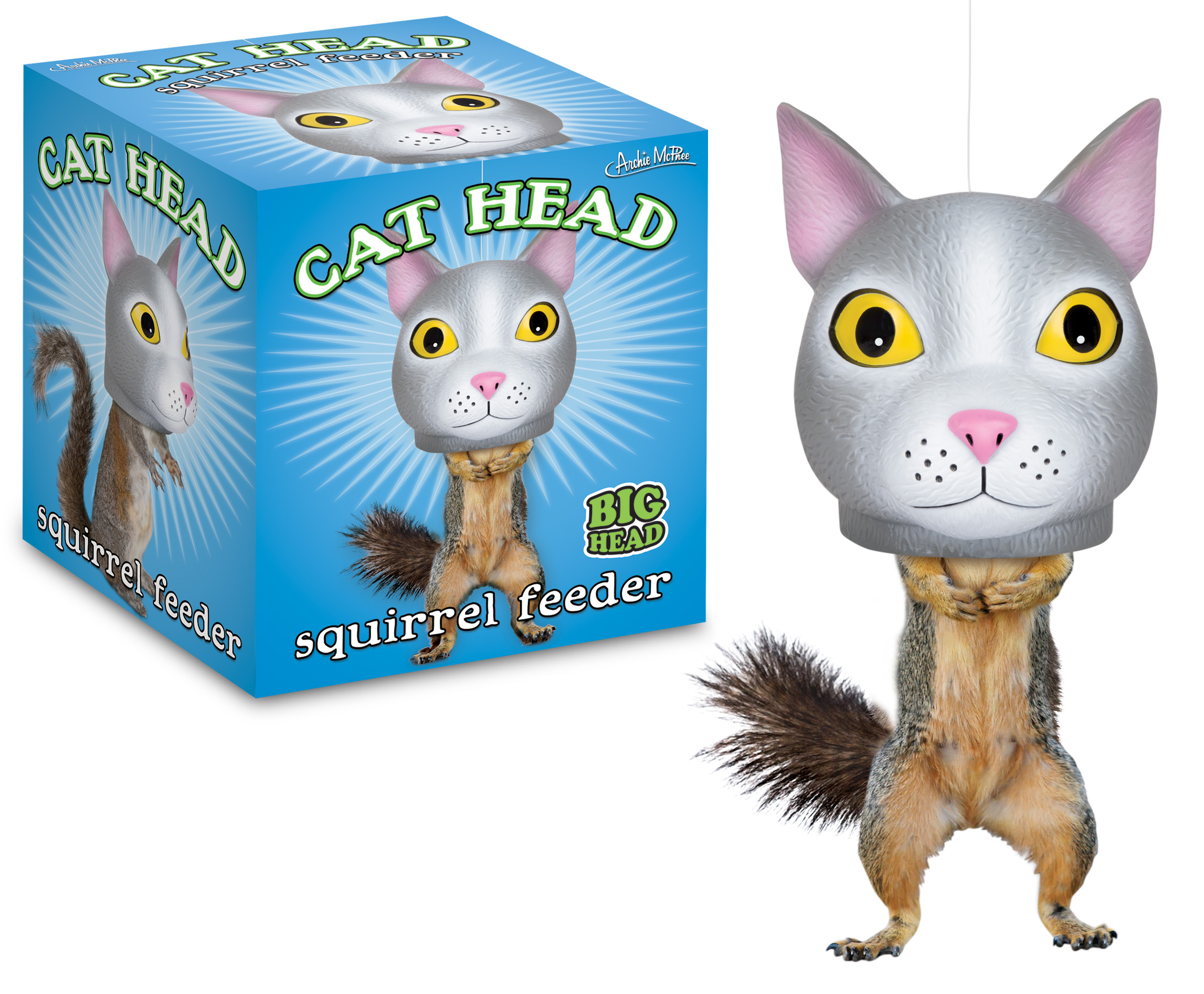 Squirrel Feeder Cat Head Incognito